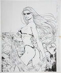 Original Comic Art:Splash Pages, Ron Adrian and Mark Irwin Darkchylde Summer SwimsuitSpectacular Pin-Up Original Art (Wildstorm, 1999)....