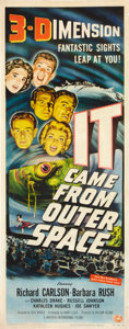 """Movie Posters:Science Fiction, It Came from Outer Space (Universal International, 1953). Insert(14"""" X 36"""") 3-D Style.. ..."""