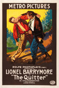 """Movie Posters:Western, The Quitter (Metro, 1916). One Sheet (27"""" X 41"""").. ..."""