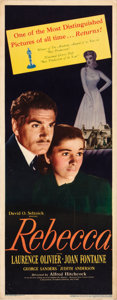 """Movie Posters:Hitchcock, Rebecca (United Artists, R-1946). Insert (14"""" X 36"""").. ..."""