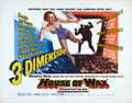 "Movie Posters:Horror, House of Wax (Warner Brothers, 1953). Half Sheet (22"" X 28"") 3-D Version.. ..."
