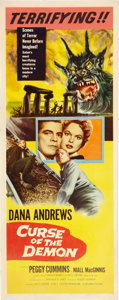 """Movie Posters:Horror, Curse of the Demon (Columbia, 1957). Insert (14"""" X 36"""").. ..."""