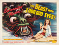 "Movie Posters:Science Fiction, The Beast with 1,000,000 Eyes! (American Releasing Corp., 1955).Half Sheet (22"" X 28"").. ..."