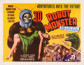 "Movie Posters:Science Fiction, Robot Monster (Astor Pictures, 1953). Half Sheet (22"" X 28"") 3DStyle.. ..."