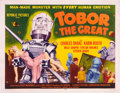 "Movie Posters:Science Fiction, Tobor the Great (Republic, 1954). Half Sheet (22"" X 28"") Style A.. ..."
