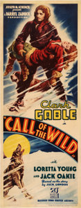 "Movie Posters:Adventure, The Call of the Wild (United Artists, 1935). Insert (14"" X 36"")....."
