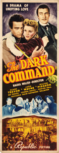 "Movie Posters:Western, The Dark Command (Republic, 1940). Insert (14"" X 36"").. ..."