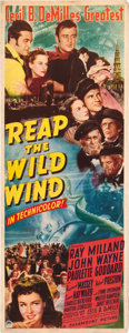 "Movie Posters:Adventure, Reap the Wild Wind (Paramount, 1942). Insert (14"" X 36"").. ..."
