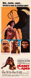 "Movie Posters:Science Fiction, Planet of the Apes (20th Century Fox, 1968). Insert (14"" X 36"")....."