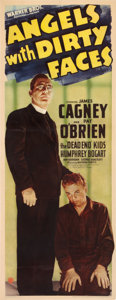 """Movie Posters:Crime, Angels with Dirty Faces (Warner Brothers, 1938). Insert (14"""" X 36"""").. ..."""