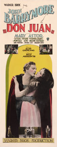"Movie Posters:Adventure, Don Juan (Warner Brothers, 1926). Insert (14"" X 36"").. ..."