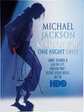 Music Memorabilia:Autographs and Signed Items, Michael Jackson Signed One Night Only Poster (HBO, 1995)....
