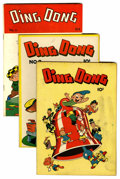 "Golden Age (1938-1955):Funny Animal, Ding Dong #1-5 Davis Crippen (""D"" Copy) pedigree Group (Compix,1946-47).... (Total: 5 Comic Books)"