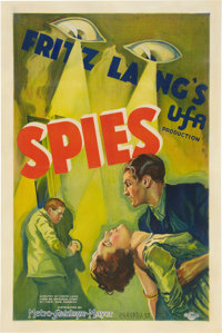 "Spies (MGM-UFA, 1928). Signed One Sheet (27"" X 41"")"