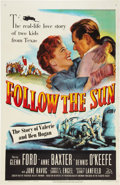 "Movie Posters:Sports, Follow the Sun (20th Century Fox, 1951). One Sheet (27"" X 41"").. ..."