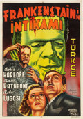 "Movie Posters:Horror, Son of Frankenstein (Universal, 1939). Turkish Poster (27.5"" X39.5"").. ..."