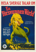 "Movie Posters:Science Fiction, The Lost World (First National, 1925). Swedish One Sheet (19.75"" X28.5"").. ..."