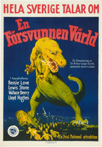 """The Lost World (First National, 1925). Swedish One Sheet (19.75"""" X 28.5"""")"""