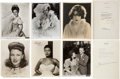 Movie/TV Memorabilia:Autographs and Signed Items, Paulette Goddard and Other Actresses Signed Photos.... (Total: 10 )