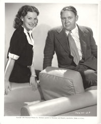 "Charles Laughton and Maureen O'Hara in ""Jamaica Inn"" (Paramount, 1939). Stills (3) (8"" X 10""). ... (..."
