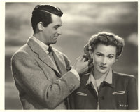 "Cary Grant and Joan Fontaine in ""Suspicion"" by Gaston Longet (RKO, 1941). Stills (2) (8"" X 10"")..."