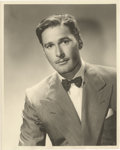 """Movie Posters:Miscellaneous, Errol Flynn by George Hurrell (Warner Brothers, Early 1940s). Portrait Still (8"""" X 10"""").. ..."""
