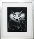Music Memorabilia:Original Art, Jefferson Airplane Related - Grace Slick Signed Cheshire Cat Limited Edition Print....
