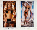 Movie/TV Memorabilia:Autographs and Signed Items, Playboy Color Centerfold Proofs - Signed by Hugh Hefner (Playboy, 2000-01).... (Total: 2 Items)