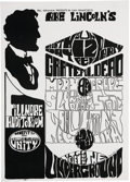 "Music Memorabilia:Posters, Grateful Dead/Moby Grape/Sly and the Family Stone ""Lincoln'sBirthday Party"" Fillmore Concert Poster (Bill Graham, 1967)...."