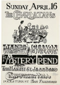 Music Memorabilia:Posters, Charlatans/Mystery Trend California Hall Rick Griffin-signedConcert Poster (1967)....