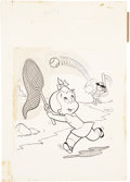 Original Comic Art:Covers, Warren Kremer Playful Little Audrey #84 Cover Original Art(Harvey, 1969)....