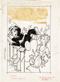Original Comic Art:Covers, Paul Fung Jr. Blondie #63 Cover Original Art (Harvey,1954)....