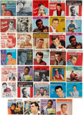 Music Memorabilia:Recordings, R&B/Rock Icons 45 and Picture Sleeve Group (1957-64)....(Total: 34 Items)