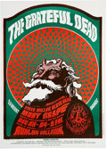 "Music Memorabilia:Posters, Grateful Dead/Moby Grape ""Hippie Santa Claus"" Avalon Concert PosterFD-40 (Family Dog, 1866)...."