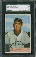 Baseball Cards:Singles (1950-1959), 1954 Bowman Ted Williams #66 SGC 70 EX+ 5.5....