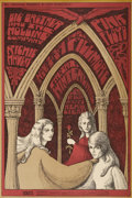 Music Memorabilia:Posters, Big Brother and the Holding Company/Pink Floyd Fillmore/WinterlandConcert Poster BG-91 (Bill Graham, 1967).. ...