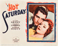 "Movie Posters:Drama, Hot Saturday (Paramount, 1932). Lobby Card (11"" X 14"").. ..."
