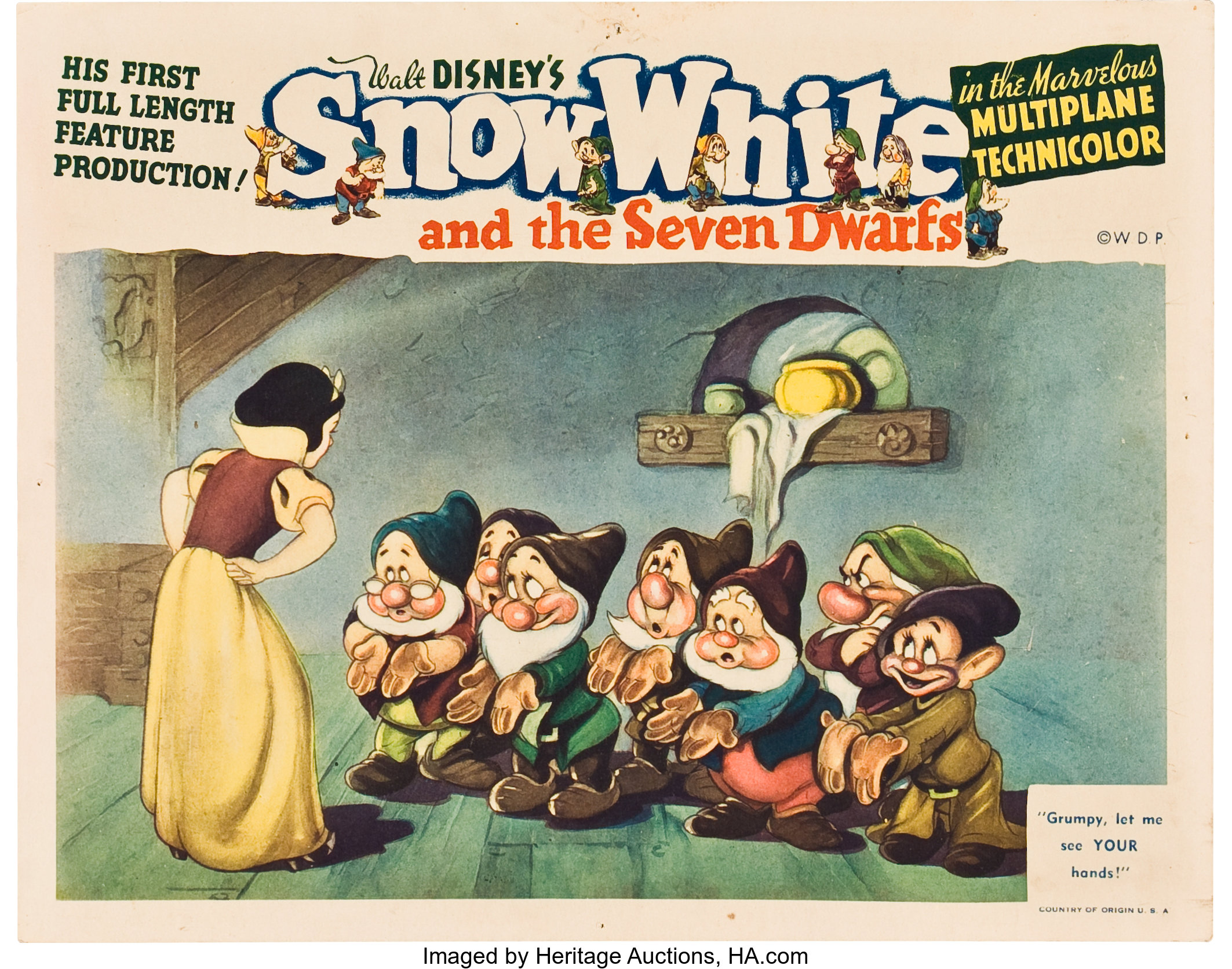 Snow White And The Seven Dwarfs Rko 1937 Lobby Card 11 X Lot 89640 Heritage Auctions