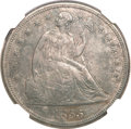 Seated Dollars, 1855 $1 --Improperly Cleaned--NGC. AU Details....