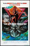 """Movie Posters:James Bond, The Spy Who Loved Me (United Artists, 1977). One Sheet (27"""" X 41"""") and Ad Supplements (12.5"""" X 19""""). James Bond.. ... (Total: 2 Items)"""