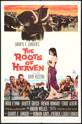 "Movie Posters:Adventure, The Roots of Heaven (20th Century Fox, 1958). One Sheet (27"" X 41"")and Pressbook (13"" X 16.5""). Adventure.. ... (Total: 2 Items)"