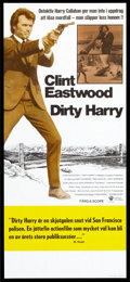 """Movie Posters:Crime, Dirty Harry Lot (Warner Brothers, 1972 and R-1970s). SwedishInserts (4) (12.5"""" X 27.5""""). Crime.. ... (Total: 4 Items)"""