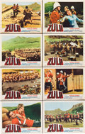 "Movie Posters:War, Zulu (Embassy, 1964). Lobby Card Set of 8 (11"" X 14"").. ... (Total:8 Items)"