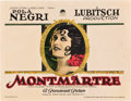 "Movie Posters:Drama, Montmartre (Paramount, 1924). Title Lobby Card (11"" X 14"").. ..."
