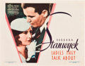 "Movie Posters:Drama, Ladies They Talk About (Warner Brothers, 1933). Title Lobby Card(11"" X 14"").. ..."
