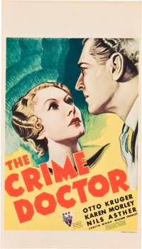 "The Crime Doctor (RKO, 1934). Midget Window Card (8"" X 14"")"