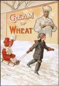 "Mainstream Illustration, CHARLES CHAMPE (American, 20th Century). ""A Winter Scene"", Creamof Wheat ad illustration, 1911. Gouache and watercolor ..."