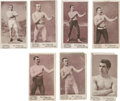 "Boxing Cards:General, 1895 N310 Mayo Cut Plug Boxers Collection (7) - All ""Name atBottom"" Variations!..."