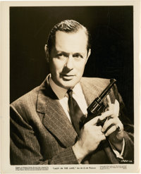 "Robert Montgomery in ""Lady in the Lake"" (MGM, 1947). Portrait Still (8"" X 10"")"