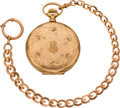 Timepieces:Pocket (post 1900), Elgin 16 Size Gold Hunters Case & Chain, circa 1903. ...